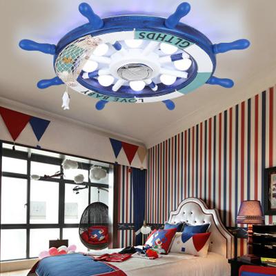 地中海灯led儿童房灯现代简约男孩女孩卧室灯具客厅卡通饰吸顶灯哪里便宜