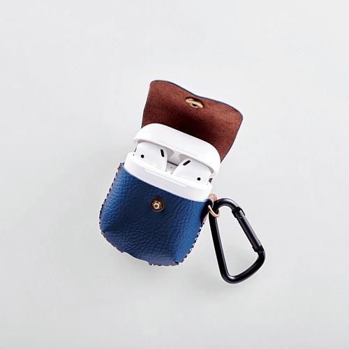 日本直送 elecom 苹果无线耳机AirPods保护套壳 PU腰挂套 iPhone7