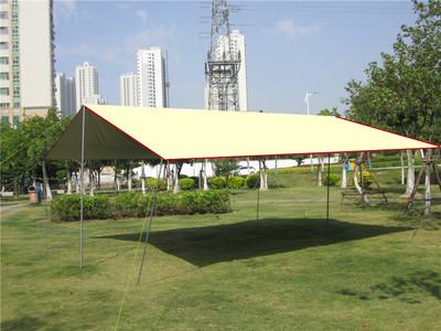 野外露营超大天幕帐篷简易便携遮阳棚防嗮防紫外线多人亭5*8防雨