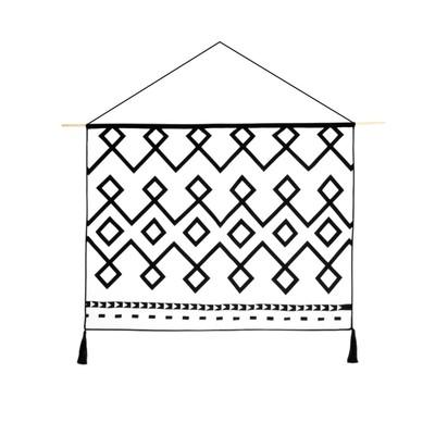【青山美宿】原创北欧简约设计师现代民族挂毯壁毯挂画墙画挂布