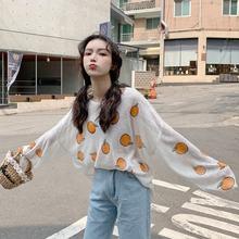 印花薄款 防晒上衣宽松泫雅打底衫 t恤女ins潮夏季2019新款 长袖 韩版图片