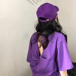 紫色短上衣