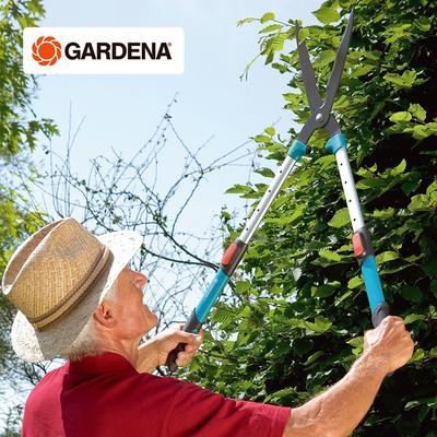 德国进口GARDENA嘉丁拿 20cm可伸缩加高手柄 园林园艺篱笆绿篱剪