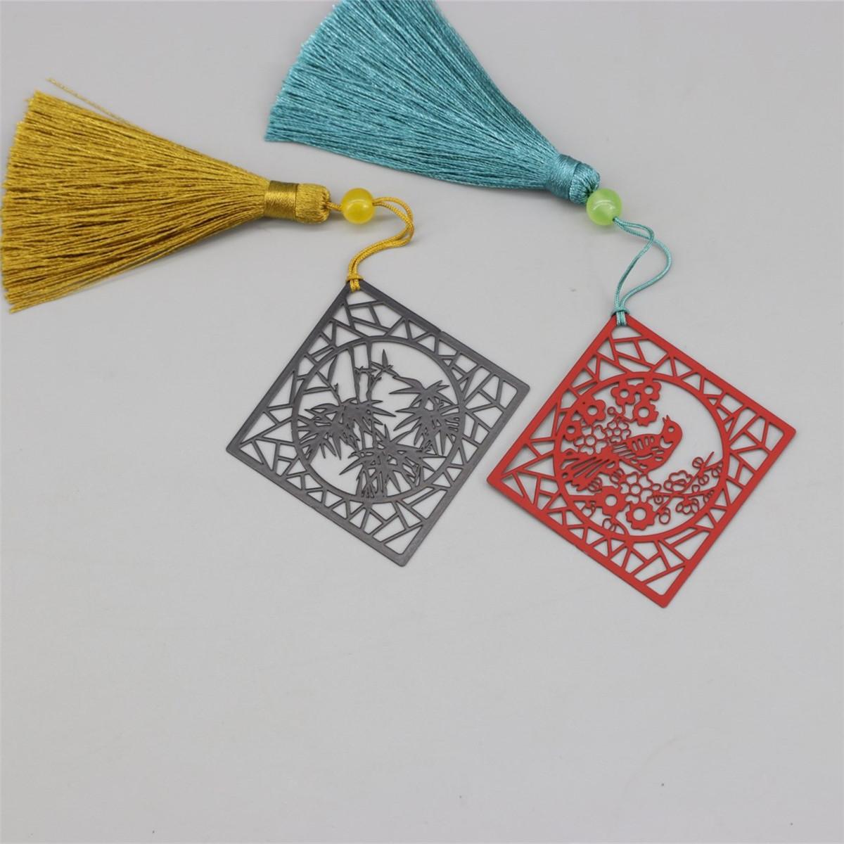 文創窗格古風金屬烤漆書籤開學季教師節清新簡約文藝文化學生禮品