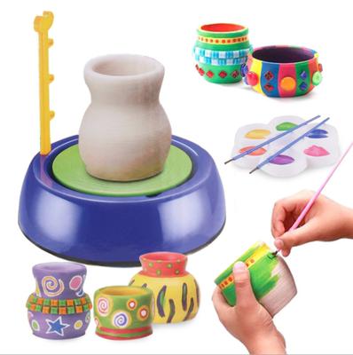 儿童陶艺机学生电动玩具软陶泥diy陶土手工制作免烧男女孩拉坯机
