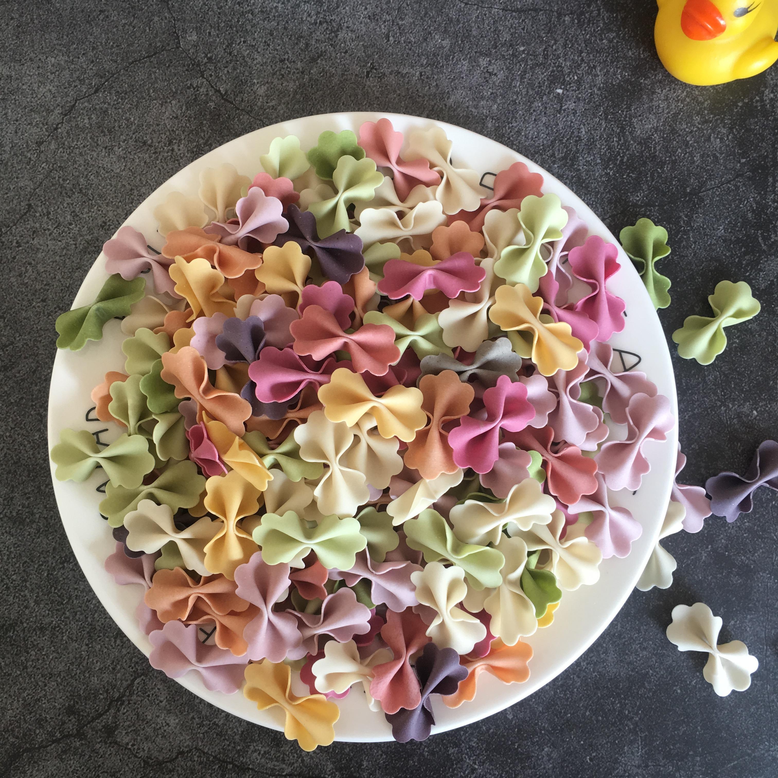 水果蔬菜营养蝴蝶面  无盐零无添加宝宝婴儿童辅食彩色挂面条500g
