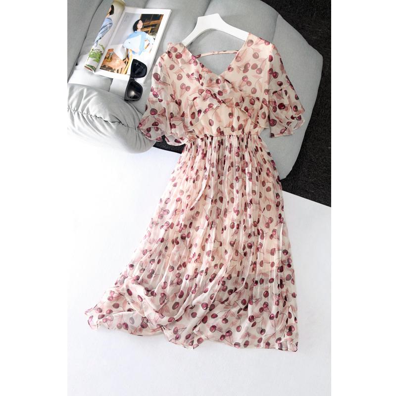樱桃裙 雪纺