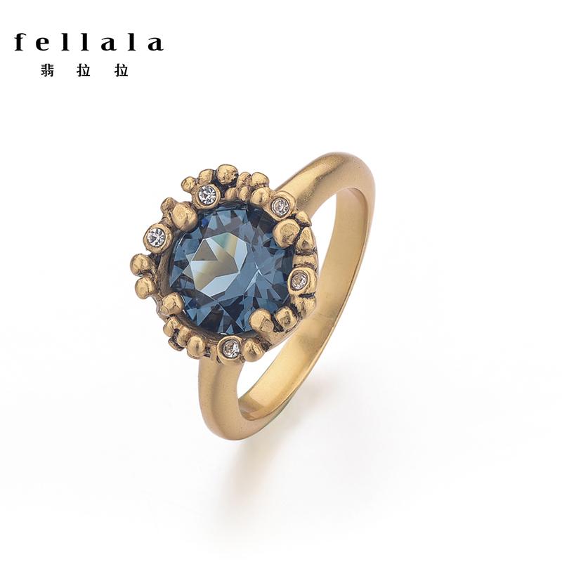 Fellala翡拉拉商场同款灵石原创欧美复古戒指 食指指环女生日礼物图片