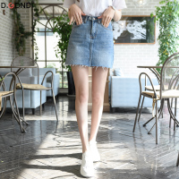 2018春夏新款牛仔裙短裙显瘦高腰半身裙女夏季学生a字裙包臀裙