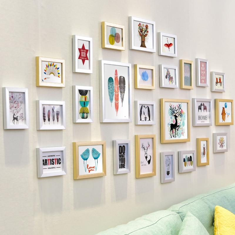 照片墙装饰相框墙贴挂墙创意个性组合简约现代客厅墙上画框相片墙5元优惠券