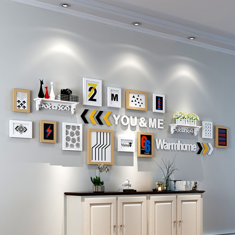 照片墙装饰相框墙一面墙创意相框挂墙组合餐厅卧室客厅墙上相片墙1元优惠券