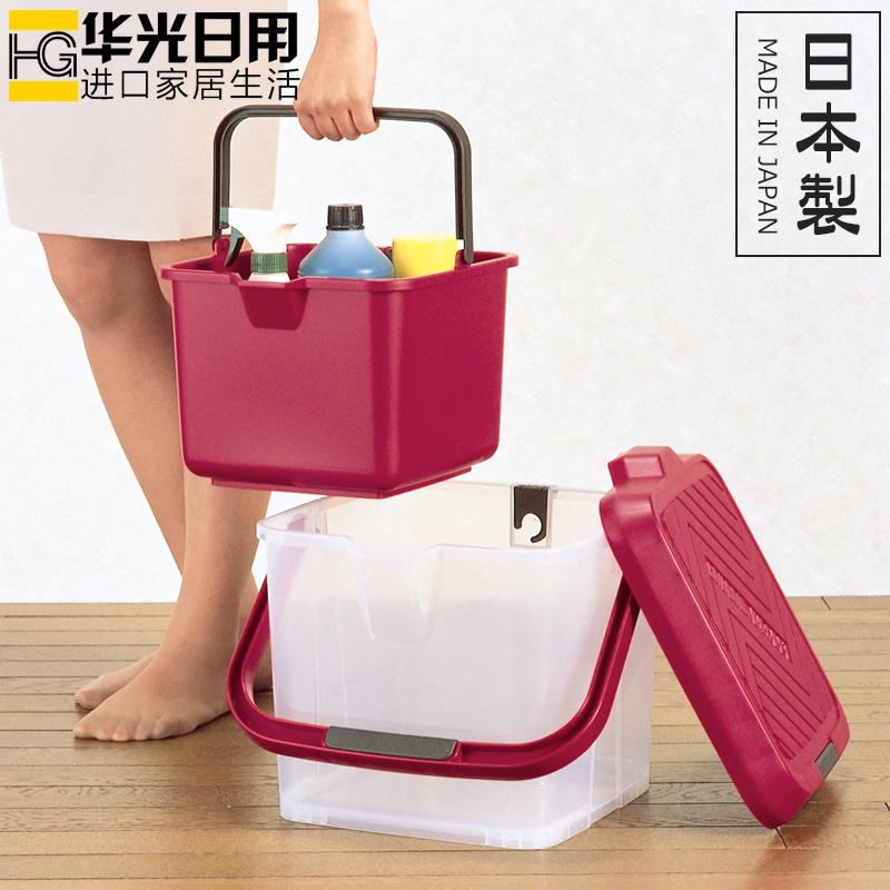 日本进口inomata户外座椅钓箱收纳箱车用水桶钓鱼桶可站立洗车桶