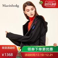 Marisfrolg/玛丝菲尔女装2018冬季新款休闲短款连帽外套专柜同款