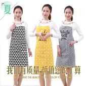 透气厨房家用围裙防水防油时尚 韩版 无袖 围裙成人女背心式夏天薄款图片