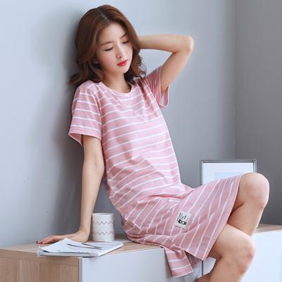 天天特价夏季韩版睡裙女士纯棉短袖加大码背心睡衣夏天无袖家居服