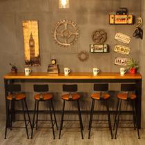 酒吧桌家用吧台桌高脚桌鸡尾酒桌吧桌吧椅组合简约咖啡圆桌洽谈桌