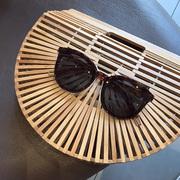 韩国新款太阳镜墨镜圆框眼镜出游装饰搭配眼镜女