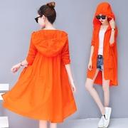 时尚防晒嗮衣服女中长款2018新款韩版士夏季超薄宽松外套百搭开衫