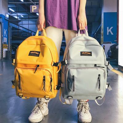 书包女韩版原宿ulzzang 高中学生双肩包潮大容量多口袋背包电脑包