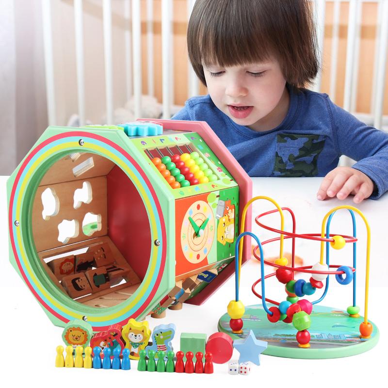 儿童绕珠益智玩具早教串珠男女孩婴儿百宝箱智力宝宝0-1-2-3-4岁