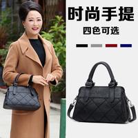 妈妈包手提包中年女包2018新款包包大容量女士简约单肩包斜挎包
