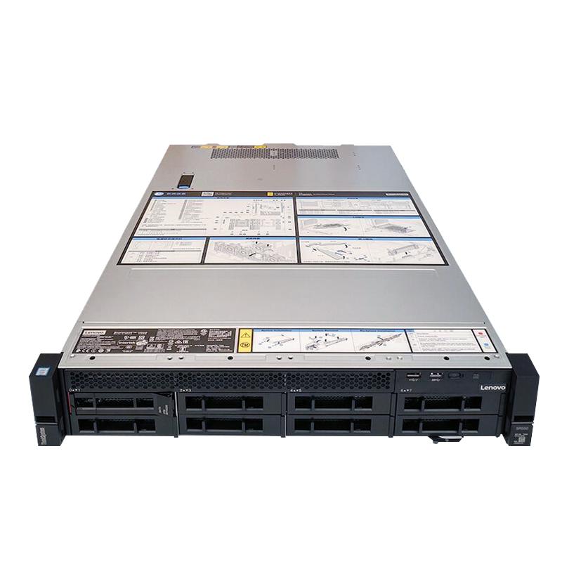 联想服务器 ThinkSystem SR550 至强六核3104 企业ERP/OA/数据库/文件/存储/WEB应用/替代RD450/2U机架式主机