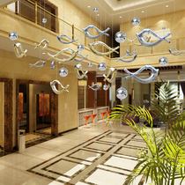 Creative Sky ornements US Chen Mall Atrium ornements wedding window decoration accessoires curtain decoration electroplating fish