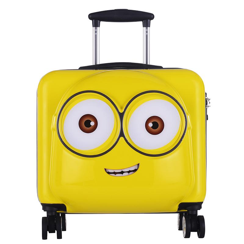 神偷奶爸大眼萌小黄人20寸拉杆箱万向轮行李箱女可爱小清新登机箱