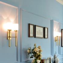 灯具灯饰led全铜壁灯欧式床头灯卧室客厅仿云石美式