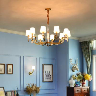 欧式全铜水晶客厅灯