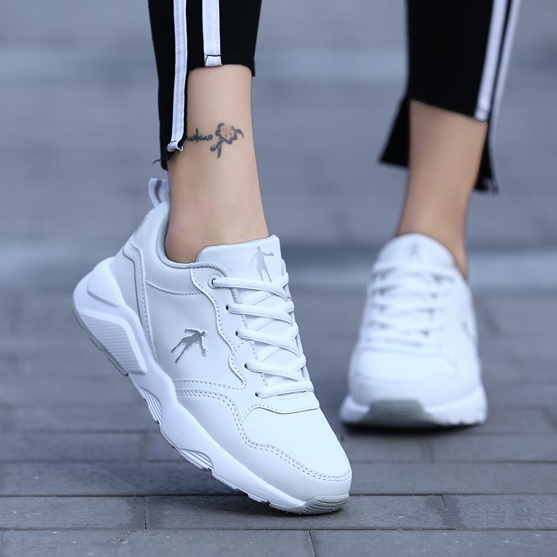2019乔丹女鞋运动鞋新款韩版百搭休闲跑步鞋小白鞋潮防滑旅游板鞋