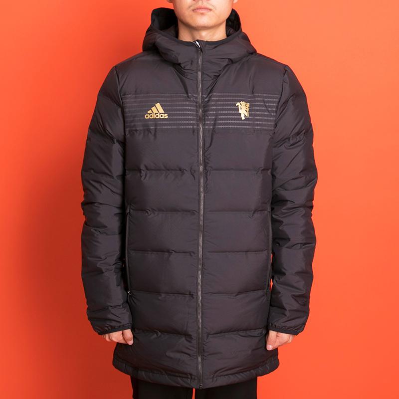 阿迪达斯男装2018冬季新款曼联足球防风保暖运动羽绒服外套CY6114
