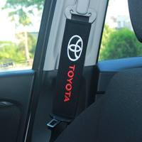 Cotton car logo car seat belt shoulder cover long car supplies seat belt cover a pair of car interior set
