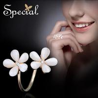 【预售】Special 欧美开口戒指花朵指环 巴黎午夜的花开新风尚