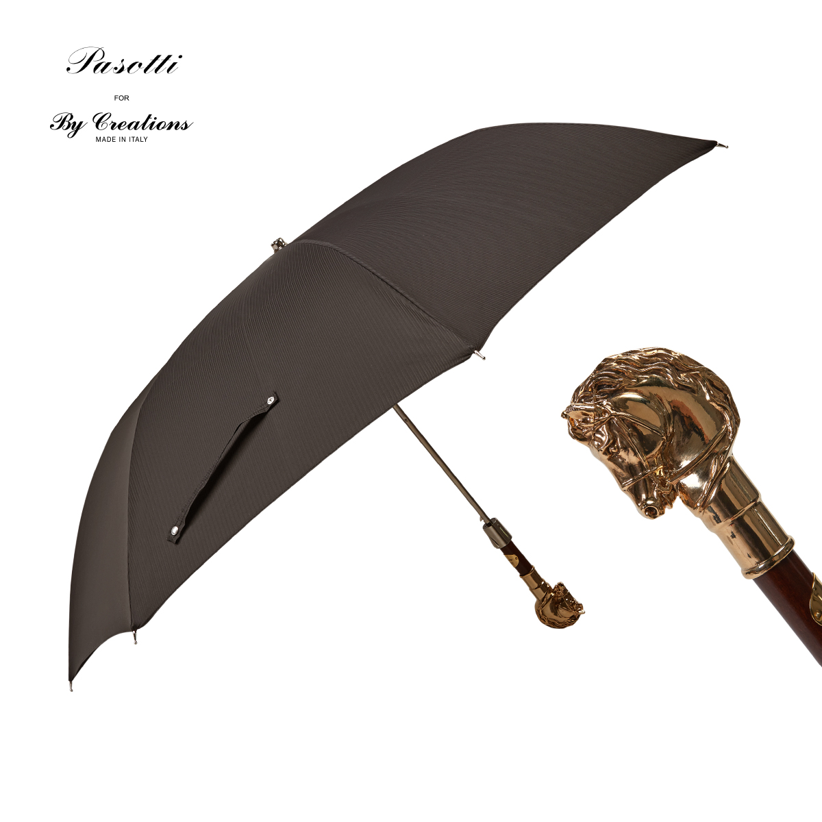 半自动两折伞