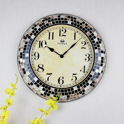 欧式客厅钟表简约现代超静音新古典美式田园软装创意墙面家用挂钟爆款