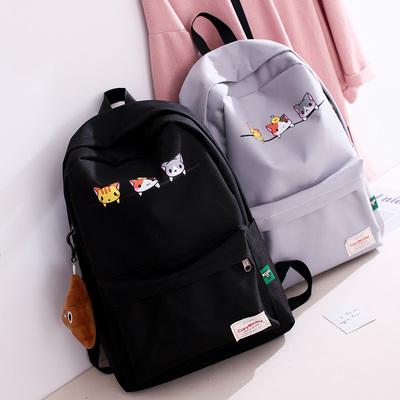 天天特价书包女韩版帆布双肩包校园高中学生休闲旅行可爱开学背包