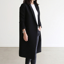 New spring suit of 2019 Korean version medium-long straight tube black small suit large size women's wear 100 sets of small coat trend