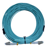 60 m LC-LC OM3 multimode duplex Gigabit armored fiber optic pigtail jumper wire armor protection rodent
