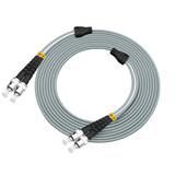 Carrier-class 30 meters ST-ST multimode duplex singlemode armored fiber optic jumper cable affixing metal wire armor