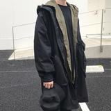 方寸先生18春新款韩版宽松风衣外套OVERSZIE蝙蝠袖连帽风衣秋外套