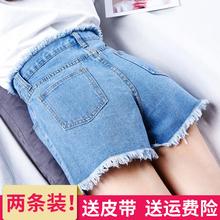 高腰学生韩版 女夏 宽松百搭2017夏季a字chic热裤 2018新款 牛仔短裤
