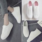 小白鞋女鞋2018春季百搭韩版白鞋学生厚底新款夏季透气休闲板鞋子