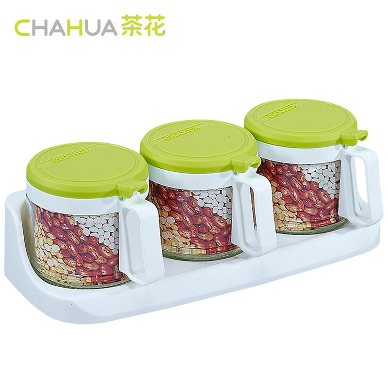 茶花调味盒