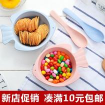 带碟不规则吃饭带饭碗含吸盘碗含碟子含分格盘五格儿童餐具套餐