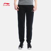 李宁卫裤男士新款训练系列长裤收口针织运动裤AKLK373