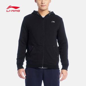 李宁卫衣男士休闲开衫长袖外套连帽冬季运动服