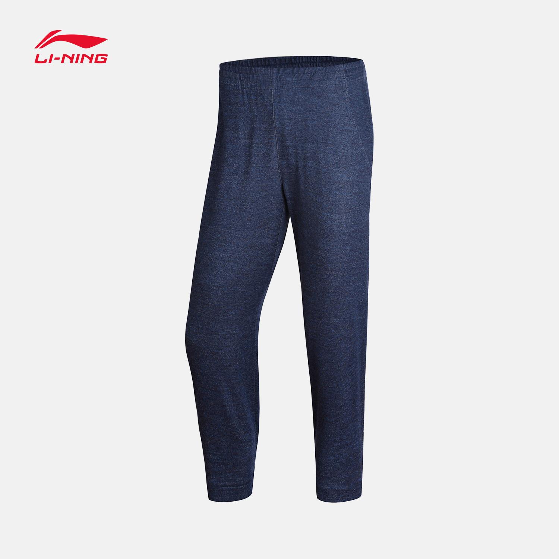 李宁七分卫裤女士2018新款BAD FIVE系列休闲女装夏季针织运动裤