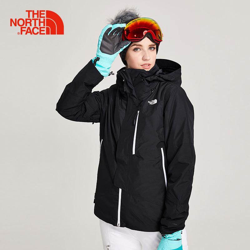 TheNorthFace北面秋冬新品防水户外女三合一外套滑雪冲锋衣|3KQX
