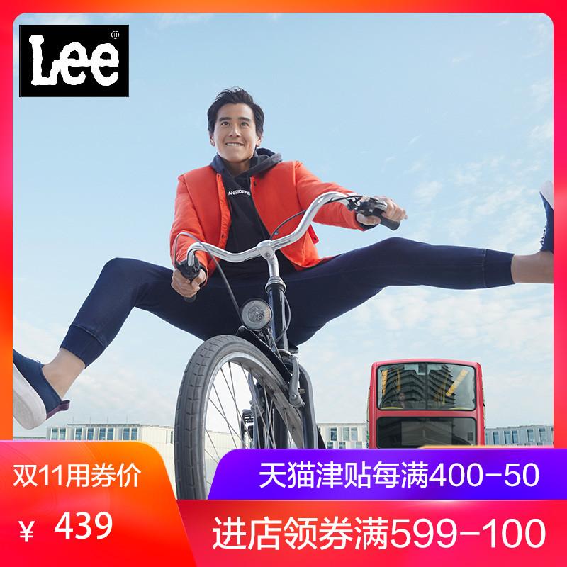 彭于晏同款Lee男款蓝色经典九分牛仔裤新款L32530V179BX,新款lee牛仔裤